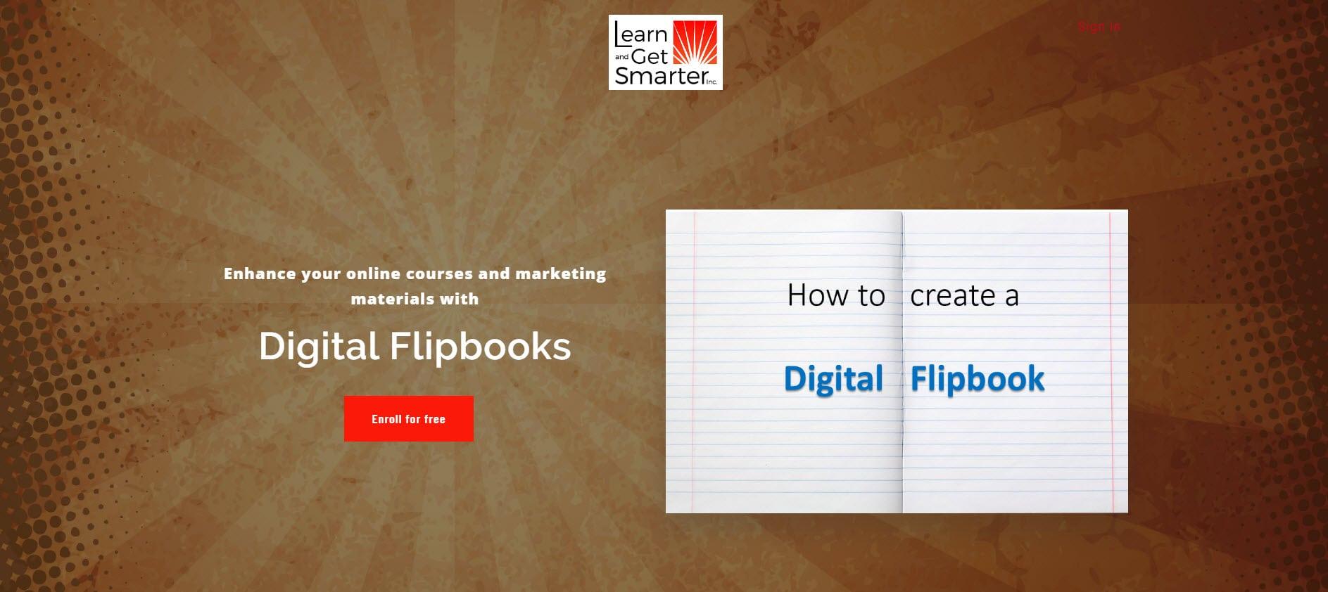 digital flipbook course screenshot