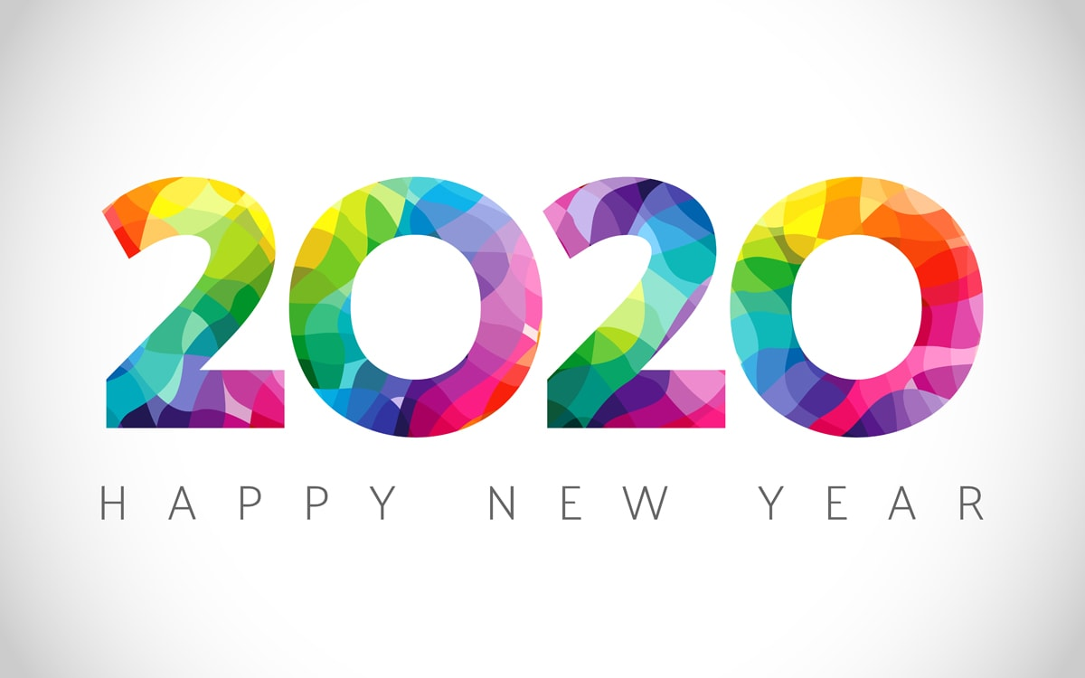 2020 A Happy New Year logo