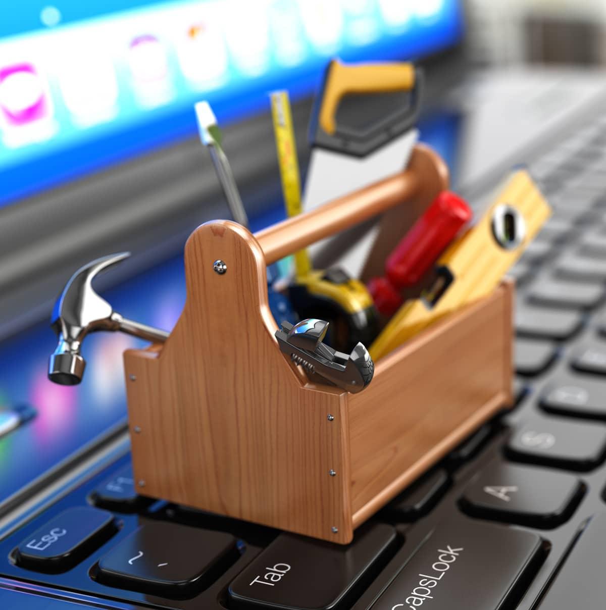 computer repair toolbox