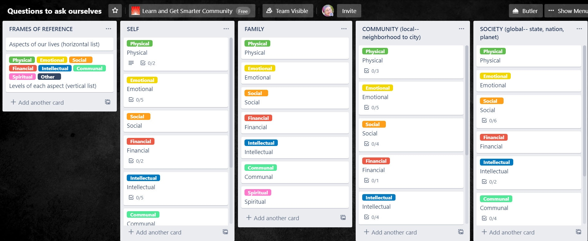 trello questions screenshot