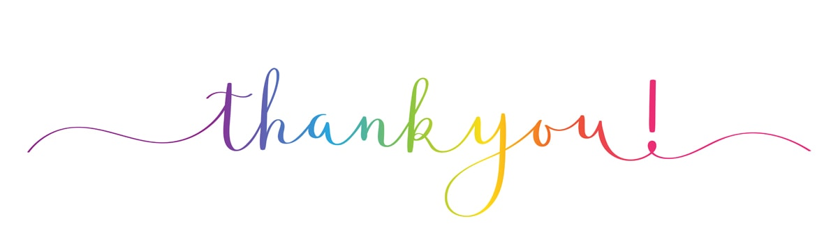 THANK YOU! brush calligraphy banner