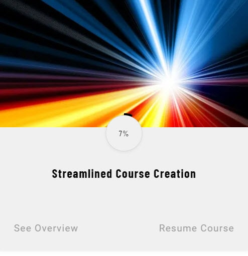 Streamlined Course Creation course card screenshot