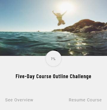 course outline challenge screenshot